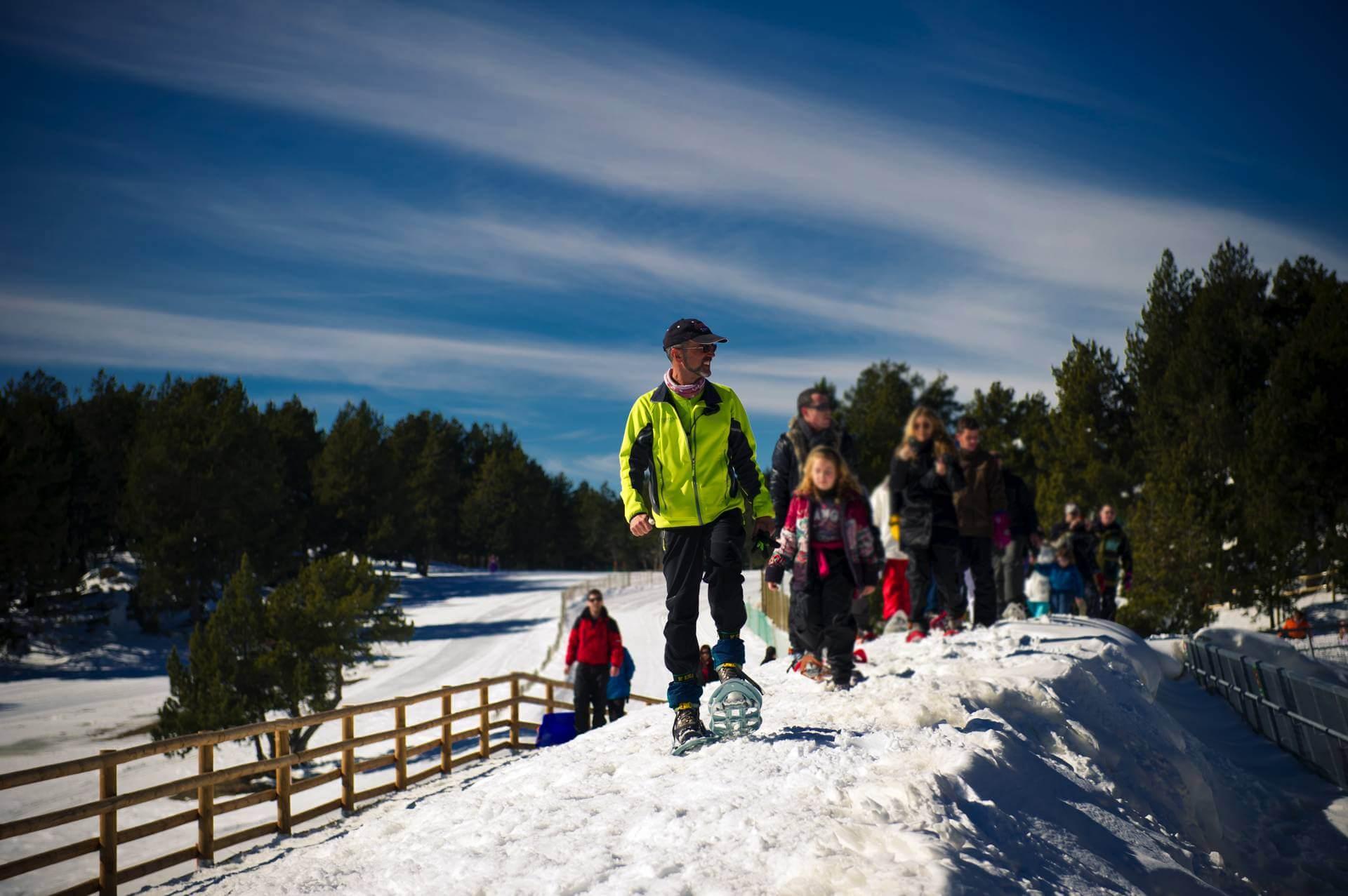 Raquetas de nieve para niños en Naturlandia