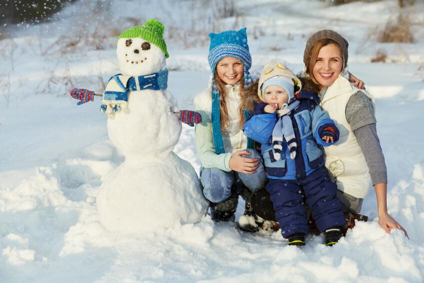 Muñeco de nieve. Actividades con niños.